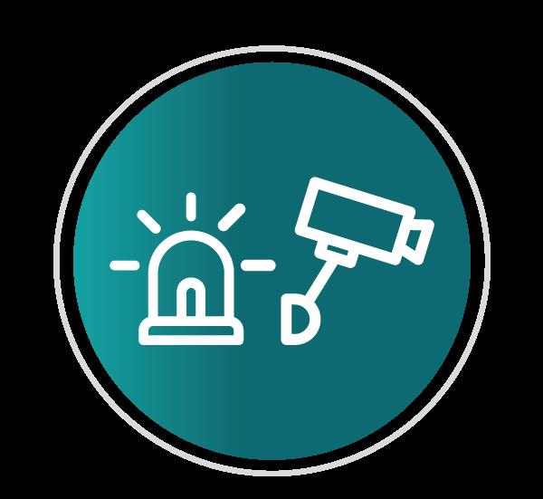 Alarmes monitorados com videoverificação em tempo real